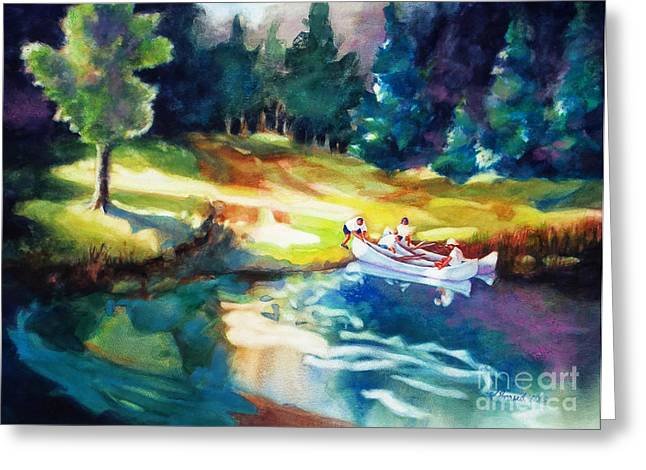 Northwoods Greeting Cards - Taking a Break 2 Greeting Card by Kathy Braud