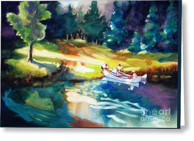 Boundary Waters Paintings Greeting Cards - Taking a Break 2 Greeting Card by Kathy Braud