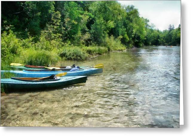 Sandy Beaches Greeting Cards - Taking a Break on the Platte Greeting Card by Michelle Calkins