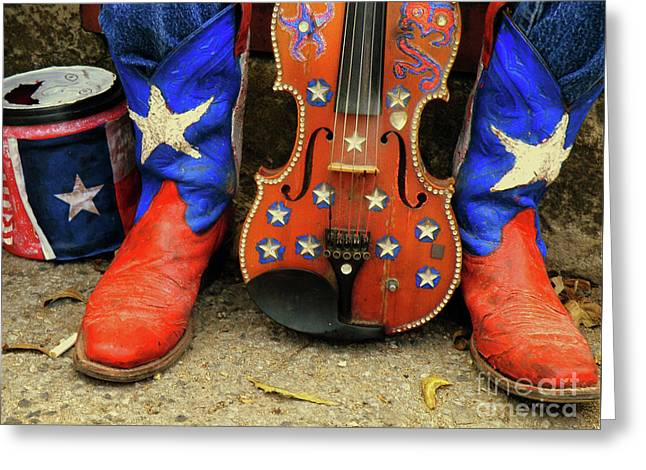 Texas Boots Greeting Cards - Taking a Breather Greeting Card by Joe Jake Pratt