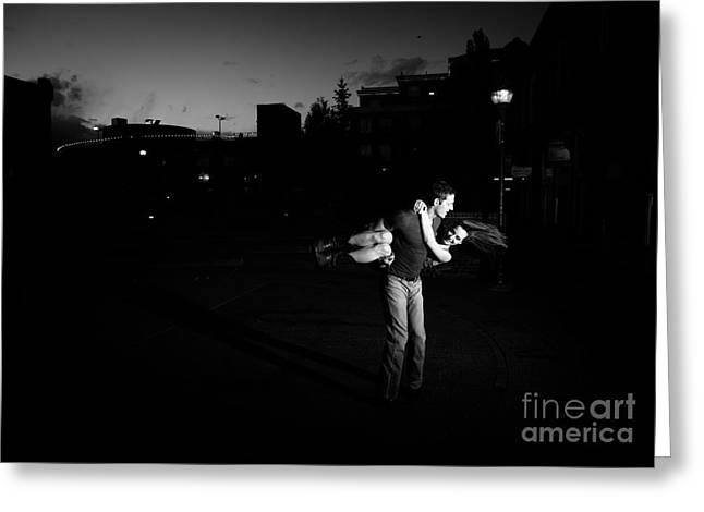 Country Dance Greeting Cards - Taking a spin downtown Greeting Card by Scott Sawyer