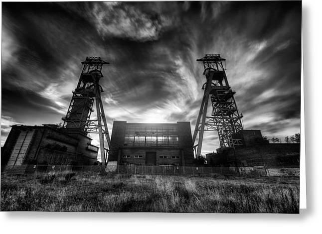 Colliery Greeting Cards - Taking Headstocks Greeting Card by Jason Green