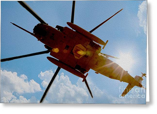 Military Greeting Cards - Taking Off Greeting Card by Jon Neidert