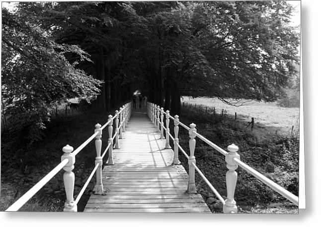 Limburg Greeting Cards - Taking The Bridge To Greeting Card by Jolly Van der Velden