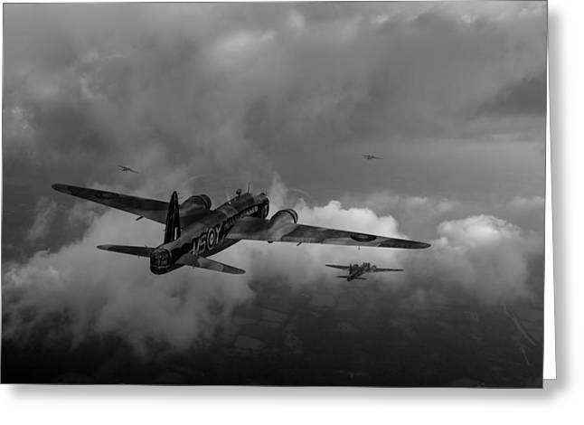 Wellingtons Greeting Cards - Taking the fight to the enemy black and white version Greeting Card by Gary Eason