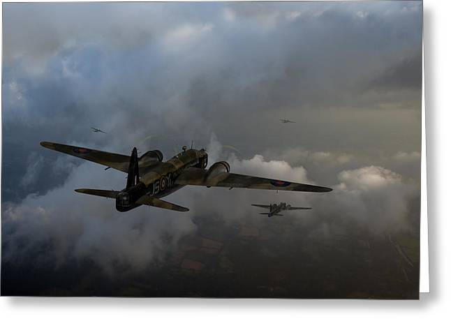 Wellingtons Greeting Cards - Taking the fight to the enemy - No 16 OTU Greeting Card by Gary Eason