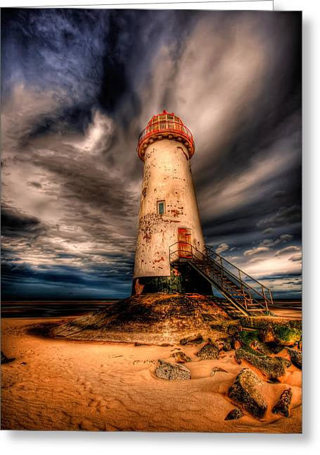 North Wales Greeting Cards - Talacre Lighthouse Greeting Card by Adrian Evans