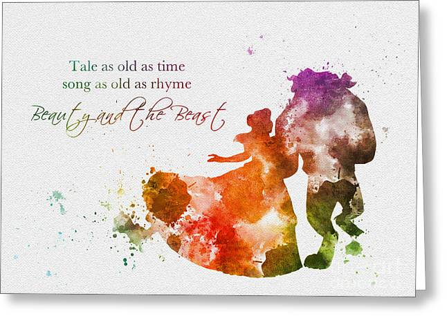 Beauty And The Beast Greeting Cards - Tale as old as time Greeting Card by Rebecca Jenkins
