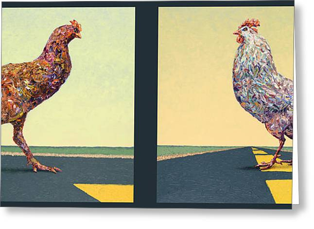 Parable Greeting Cards - Tale of Two Chickens Greeting Card by James W Johnson