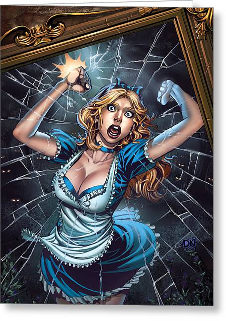 Tinker Bell Greeting Cards - Tales from Wonderland Alice  Greeting Card by Zenescope Entertainment