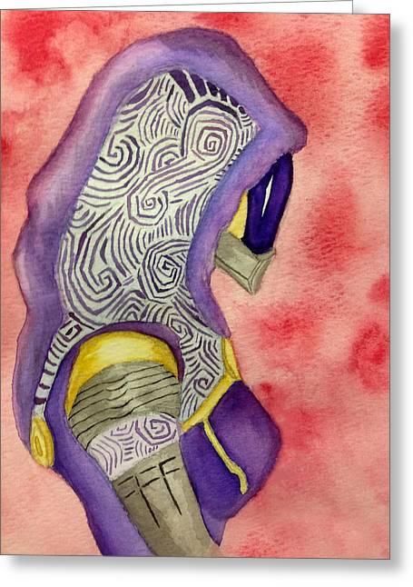 Tali Vas Normandy Greeting Card by Trevor Garner