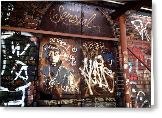 Nyc Graffiti Greeting Cards - Talib Kweli Greeting Card by Natasha Marco