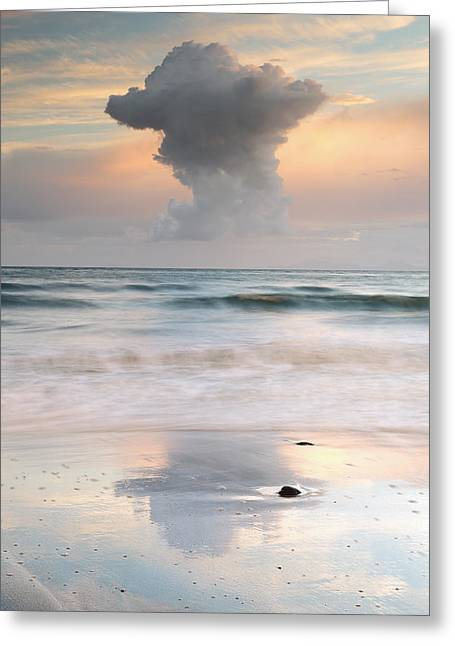 Cloud Formations. Cloud Photography Greeting Cards - Talisker bay at Sunset Greeting Card by Grant Glendinning