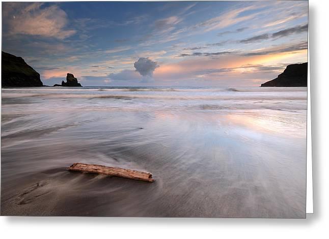 Stacks Framed Prints Greeting Cards - Talisker bay Sunset Greeting Card by Grant Glendinning