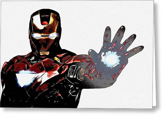 Thor Mixed Media Greeting Cards - Talk to the Hand Greeting Card by The DigArtisT