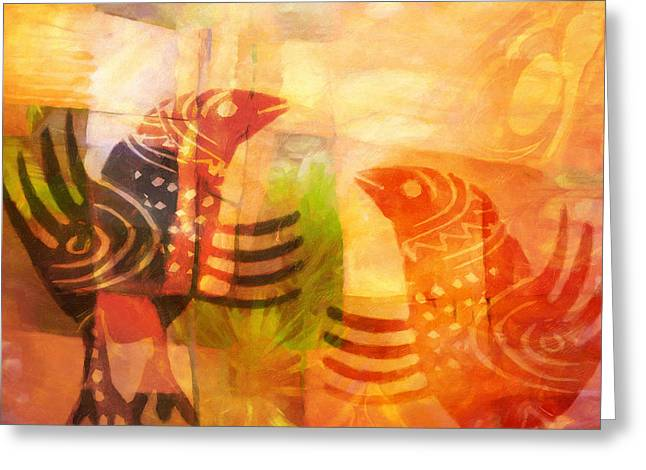 Lightscapes Greeting Cards - Talking Birds Greeting Card by Lutz Baar