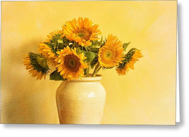 Talking To Van Gogh Greeting Card by Terry Rowe