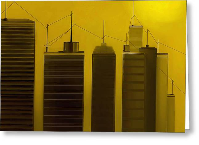 Fineartamerica Greeting Cards - Talking Towers  #10 Greeting Card by Diane Strain