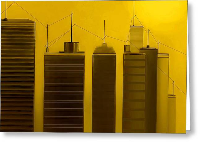 Fineartamerica Greeting Cards - Talking Towers  #13 Greeting Card by Diane Strain