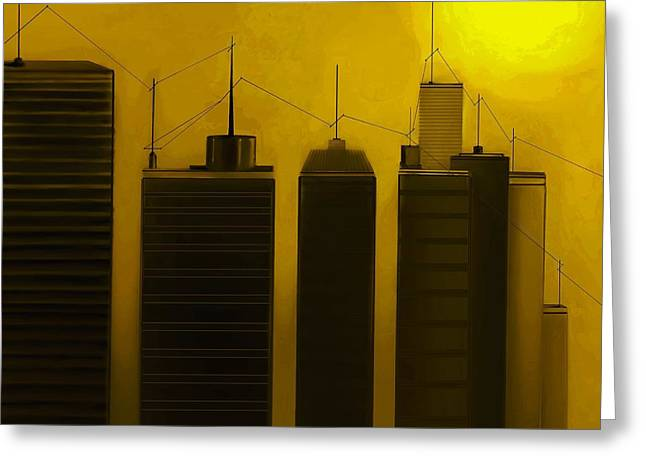Fineartamerica Greeting Cards - Talking Towers  #19 Greeting Card by Diane Strain