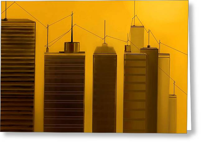 Fineartamerica Greeting Cards - Talking Towers  #2 Greeting Card by Diane Strain