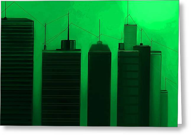 Fineartamerica Greeting Cards - Talking Towers  #23 Greeting Card by Diane Strain