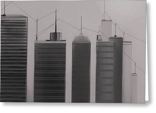 Fineartamerica Greeting Cards - Talking Towers  #26 Greeting Card by Diane Strain