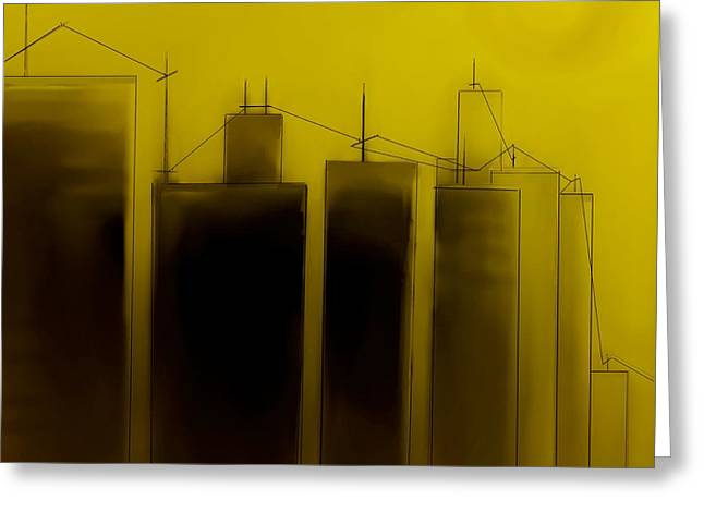Fineartamerica Greeting Cards - Talking Towers   Phase One #2 Greeting Card by Diane Strain