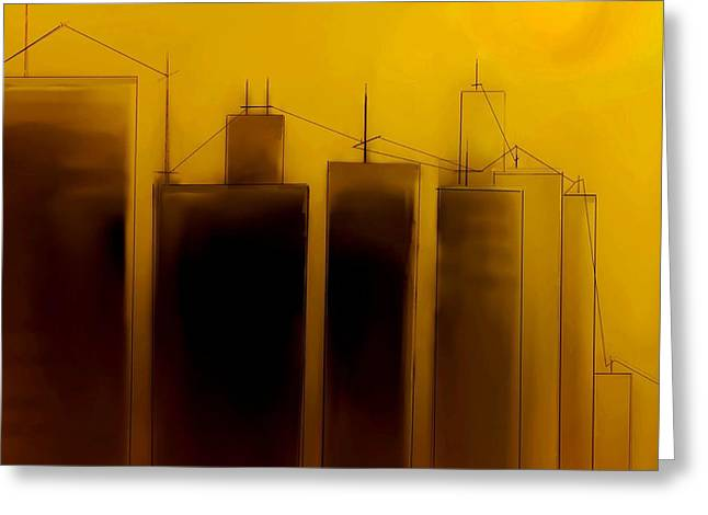 Fineartamerica Greeting Cards - Talking Towers   Phase One #3 Greeting Card by Diane Strain