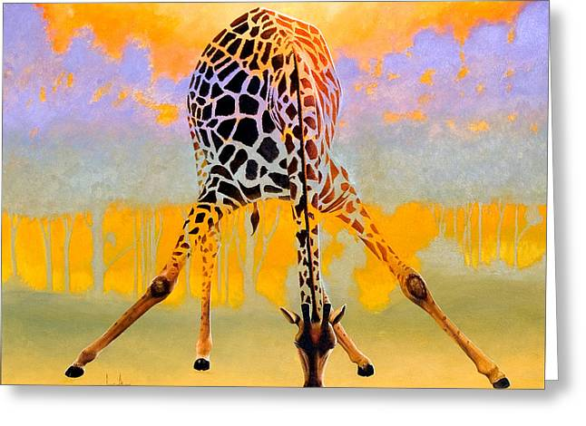 Zimbabwe Paintings Greeting Cards - Tall Drink Greeting Card by Keith Alway