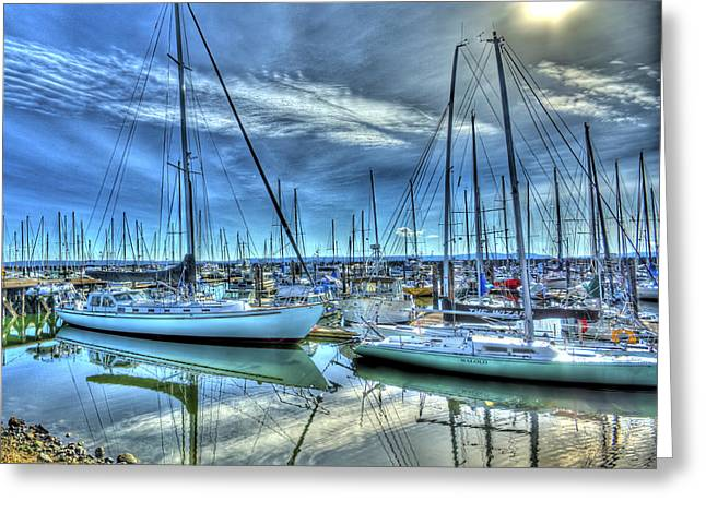 Photomatix Pro Greeting Cards - Tall Masts at Rest Greeting Card by Dale Stillman