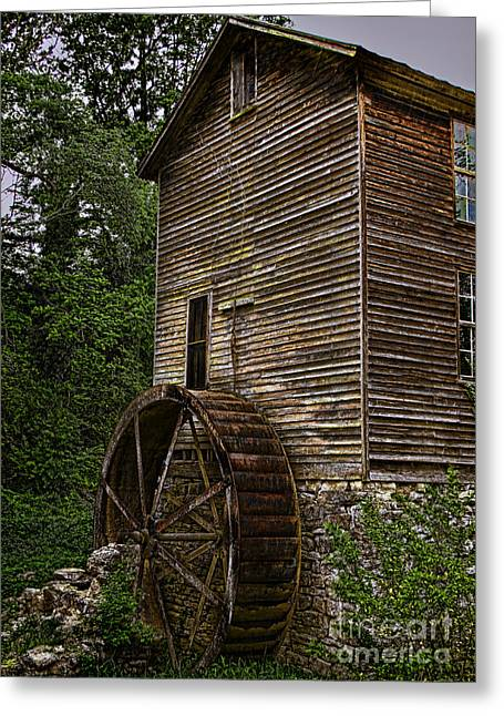 Grist Mill Greeting Cards - Tall Mill Greeting Card by Dave Bosse