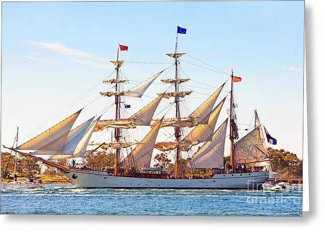Tall Ship Greeting Card by Bill  Robinson