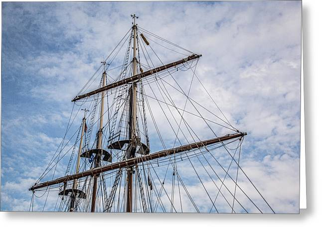 Tall Ship Masts Greeting Card by Dale Kincaid