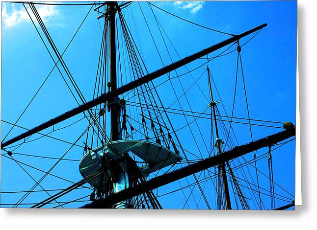 Masts Greeting Cards - Tall Ship Greeting Card by Mike Flynn