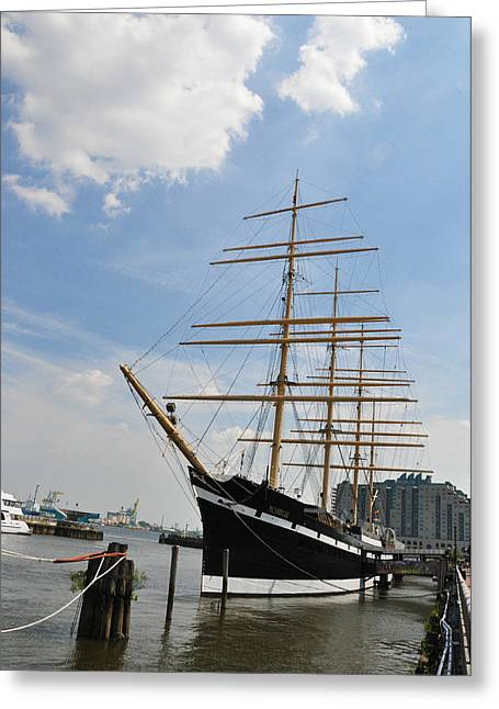 Tall Ships Greeting Cards - Tall Ship Mushulu at Penns Landing Greeting Card by Bill Cannon