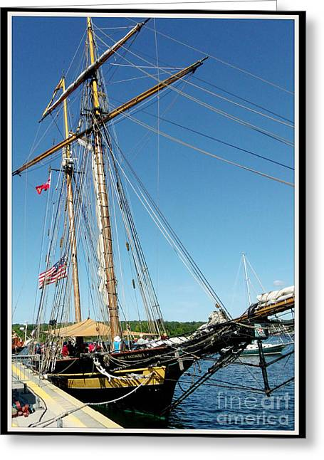 Gold Buyer Greeting Cards - Tall Ship Pride of Baltimore II Greeting Card by Gail Matthews