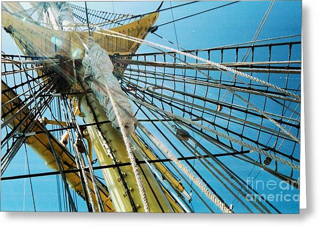 Masts Greeting Cards - Tall Ship Rigging 2 Greeting Card by Marcus Dagan