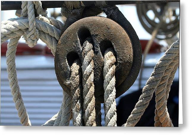 Tall Ships Greeting Cards - Tall Ship Rigging-2 Greeting Card by Art Block Collections