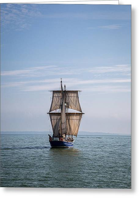 Wooden Ship Greeting Cards - Tall Ship Sailing Greeting Card by Dale Kincaid