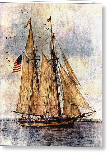 Wooden Ship Greeting Cards - Tall Ships Art Greeting Card by Dale Kincaid