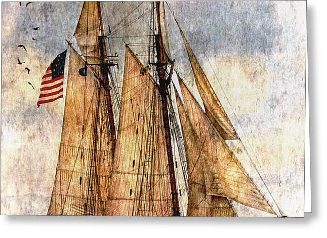 Tall Ships Art Greeting Card by Dale Kincaid