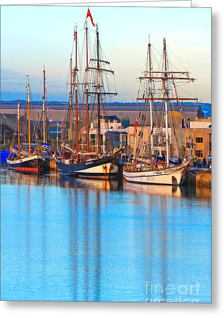 Tall Ships Greeting Cards - Tall Ships Greeting Card by Bill  Robinson