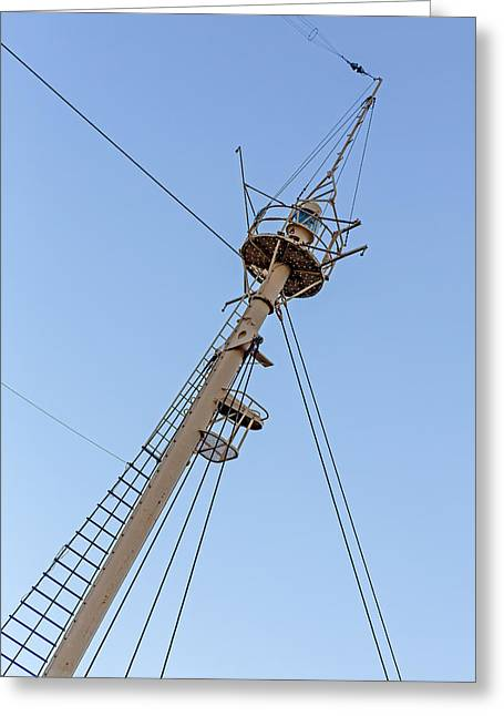 Pier 17 Greeting Cards - Tall Ships Crows Nest Greeting Card by Susan Candelario