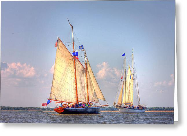 Fuad Azmat Greeting Cards - Tall Ships Greeting Card by Fuad Azmat