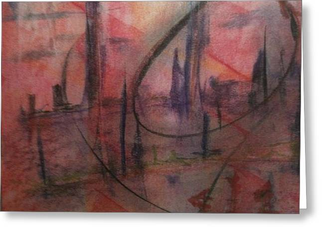 Tall Ships Pastels Greeting Cards - Tall Ships in New York Greeting Card by Robert DeSanti