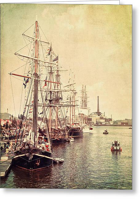 Tall Ships Greeting Cards - Tall Ships Greeting Card by Joel Witmeyer