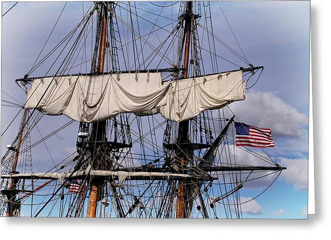 Ventura California Greeting Cards - Tall Ships Mast Greeting Card by Lynn Bauer