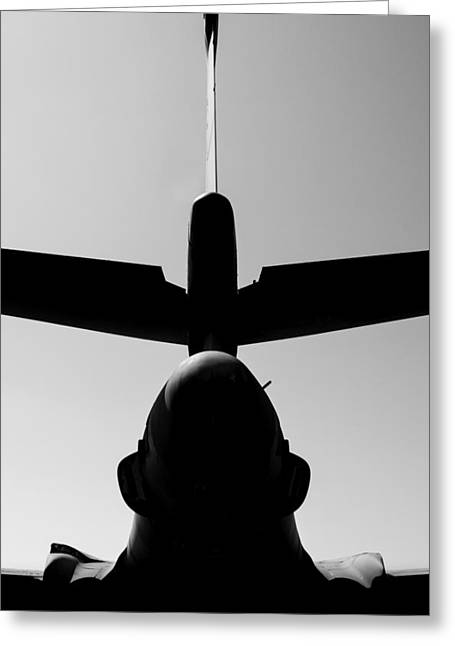 Nuclear Warfare Greeting Cards - Tall Tail - B-1B/7 Wishes Greeting Card by Steven Milner