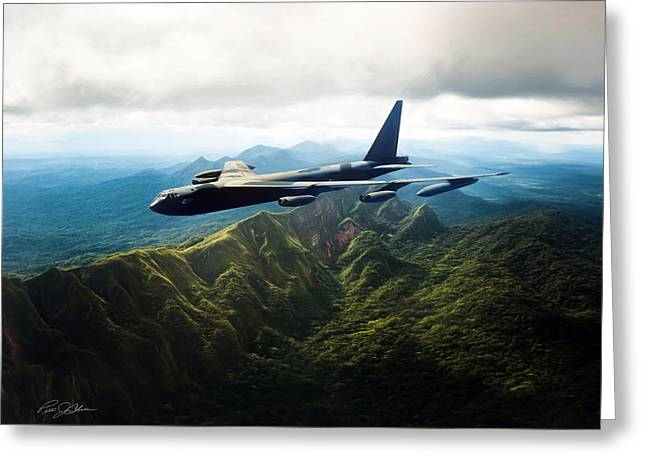 B-52 Greeting Cards - Tall Tail B-52 Greeting Card by Peter Chilelli